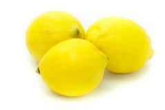 Drei Zitronen Lizenzfreie Stockfotos