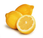 Drei Zitronen Lizenzfreies Stockbild