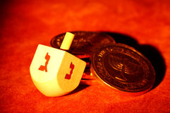 Dreidel stock photo