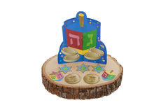 Dreidel Decorations Royalty Free Stock Images