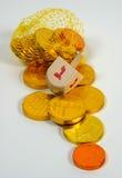 Dreidel en Gelt stock fotografie