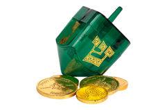 Dreidel and Gelt Stock Image