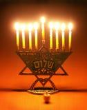 dreidel menorah στοκ εικόνα