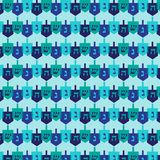 Dreidel pattern. Graphic background pattern Royalty Free Stock Photos