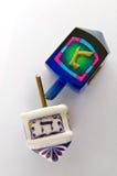 Dreidel traditionnel juif de Hanukkah Image stock