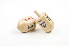 Dreidels. Hanukkah dreidels against a white background Royalty Free Stock Image