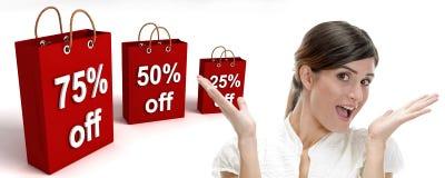 Dreidimensionale Einkaufenbeutel lizenzfreies stockfoto