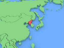 Dreidimensionale Karte von Nordkorea getrennt. 3d Lizenzfreie Stockbilder