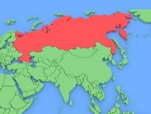 Dreidimensionale Karte von Russland getrennt. 3d Stockbilder