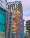 Dreidimensionale Kunst auf Gebäude in der Mitte Lizenzfreie Stockbilder