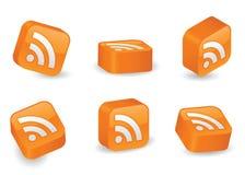 Dreidimensionale RSS Blöcke Lizenzfreies Stockfoto