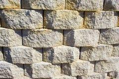 Dreidimensionale Steinwand Stockfotos