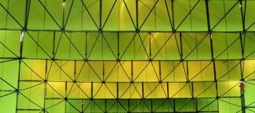 Dreidimensionale Zusammensetzung von Quadraten in den grünen Tönen Stockbilder