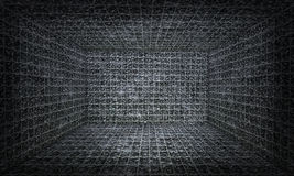 Dreidimensionaler Glasrahmen, Innenhintergrund Stockfotos