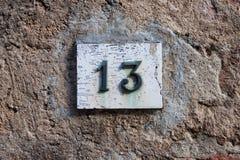 Dreidimensionales Hausnummer dreizehn Lizenzfreie Stockfotos