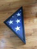 Dreieck der amerikanischen Flagge Stockfoto