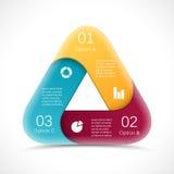 Dreieck des Vektorkreises 3D infographic schablone Lizenzfreies Stockbild