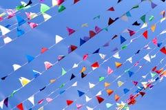 Dreieck-Flaggen-Wimpel Stockbild