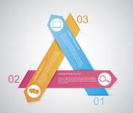 Dreieck infographic Lizenzfreie Stockbilder