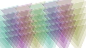 Dreieck 4k Tangrammosaik-Matrixmuster, Plastikkartenpapier, Fractalgeometriediamant stock video footage