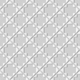 Dreieck-Kontrolle Diamond Cross Frame Kunst des Weißbuches 3D stock abbildung