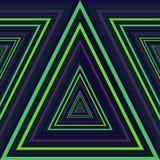 Dreieck-Perspektiven-Muster Stockbilder
