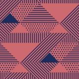 Dreieck und geometrisches nahtloses Muster der Punkte stock abbildung
