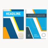 Dreieck- und Kreisvektorjahresberichtbroschüre entwerfen Schablone Stockfotos