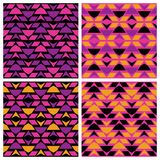 Dreieck-Zickzack-Muster Lizenzfreies Stockbild