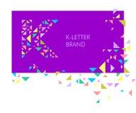 Dreieckbuchstabelogo K vektor abbildung