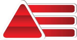 Dreieckdiagramm mit Textfeldern Lizenzfreies Stockfoto