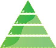 Dreieckdiagramm mit vier Jobstepps Stockfotografie