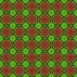 Dreieckdiagrammmuster-Vektordesign der Blume braunes rotes grünes Stockbilder