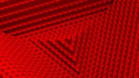 Dreiecke bildeten eine Welle stock video