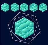 Dreiecke in interessantem Effekt Lizenzfreies Stockbild
