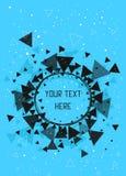 Dreiecke, Sterne und Kreismusterhintergrund Lizenzfreies Stockfoto