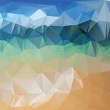 Dreieckhintergrund, Berge, Polygonkunst, Weiche färbte abstrakte Illustration Bewegliche Schnittstellenschablone des Netzes Stockbilder