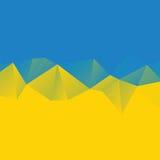 Dreieckhintergrund, Berge, Polygonkunst, Weiche färbte abstrakte Illustration Bewegliche Schnittstellenschablone des Netzes Stockfoto