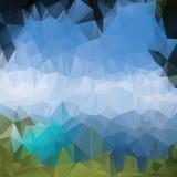 Dreieckhintergrund, Berge, Polygonkunst, Weiche färbte abstrakte Illustration Bewegliche Schnittstellenschablone des Netzes Lizenzfreies Stockbild