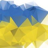Dreieckhintergrund, Berge, Polygonkunst, Weiche färbte abstrakte Illustration Bewegliche Schnittstellenschablone des Netzes Stockfotos