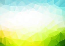 Dreieckhintergrund des blauen Grüns des Vektors Stockfotografie