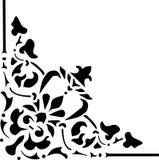 Dreieckige Ecke des schwarzen Musteresprits Lizenzfreie Stockbilder