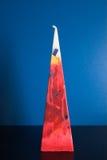 Dreieckige farbige Kerze Stockfotografie