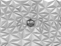 Dreieckiger abstrakter Hintergrund in der einfarbigen Farbe Stockbilder