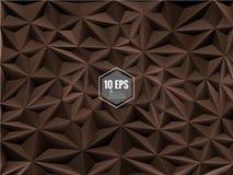 Dreieckiger abstrakter Hintergrund in der Schokoladenfarbe Stockfoto