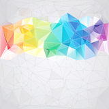Dreieckiger Artzusammenfassungshintergrund der Dreiecke Stockbilder