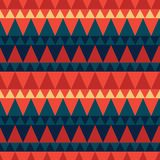 Dreieckiger Waldgebirgsnahtloses Muster Lizenzfreies Stockfoto