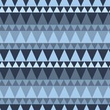 Dreieckiger Waldgebirgsnahtloses Muster Stockbild