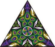 Dreieckiges Muster der orientalischen traditionellen Blume des Vektors Stockfotografie