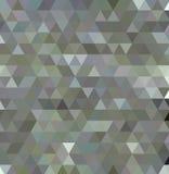 Dreieckiges niedriges Poly, hellgrau, silbern, Mosaikmusterhintergrund, stock abbildung